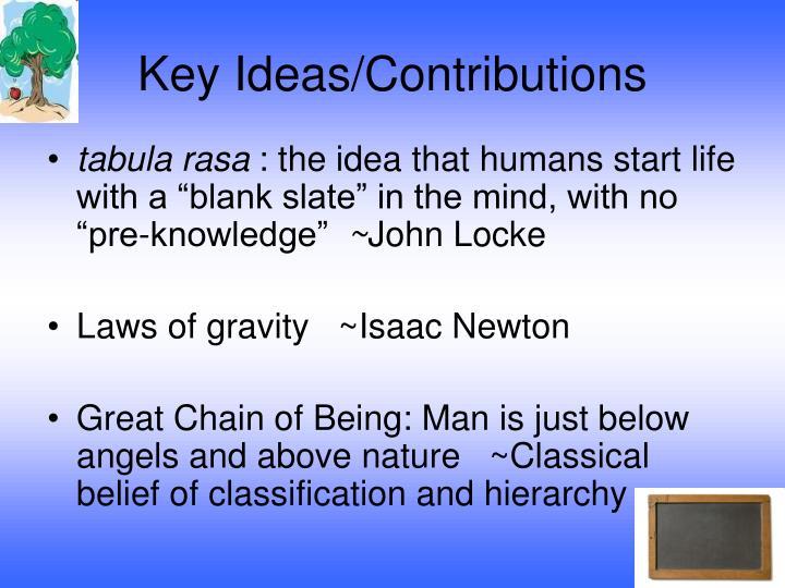Key Ideas/Contributions