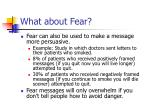 what about fear