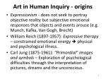art in human inquiry origins