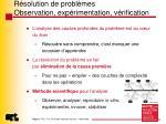 r solution de probl mes observation exp rimentation v rification