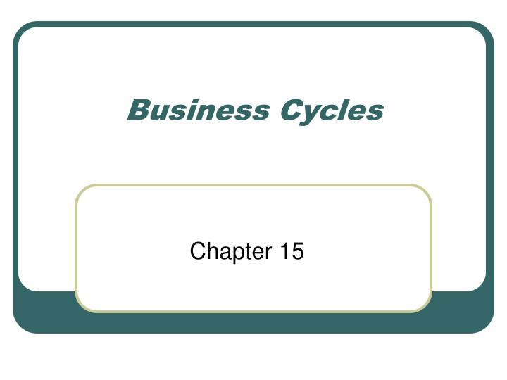 business cycles n.