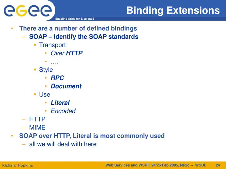 Binding Extensions