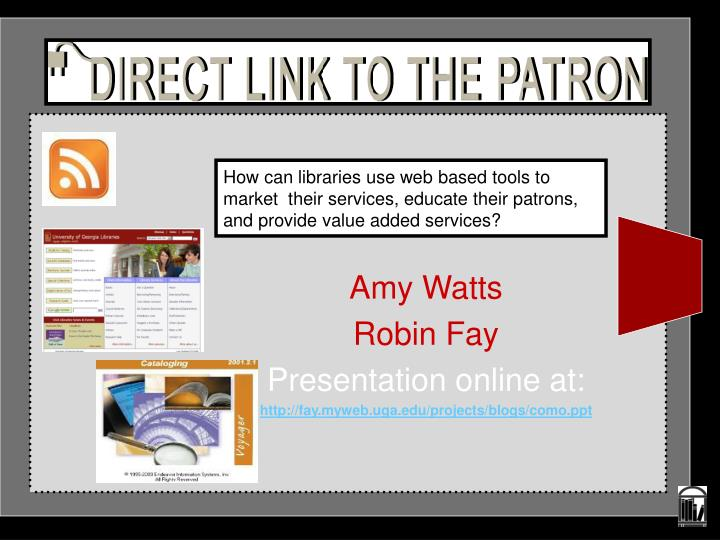 amy watts robin fay presentation online at http fay myweb uga edu projects blogs como ppt n.