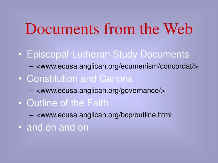 Documents from the Web