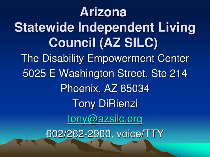 arizona statewide independent living council az silc n.