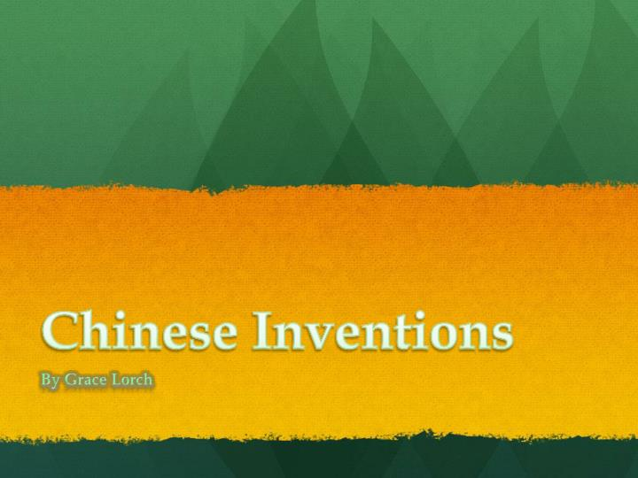 chinese i nventions n.