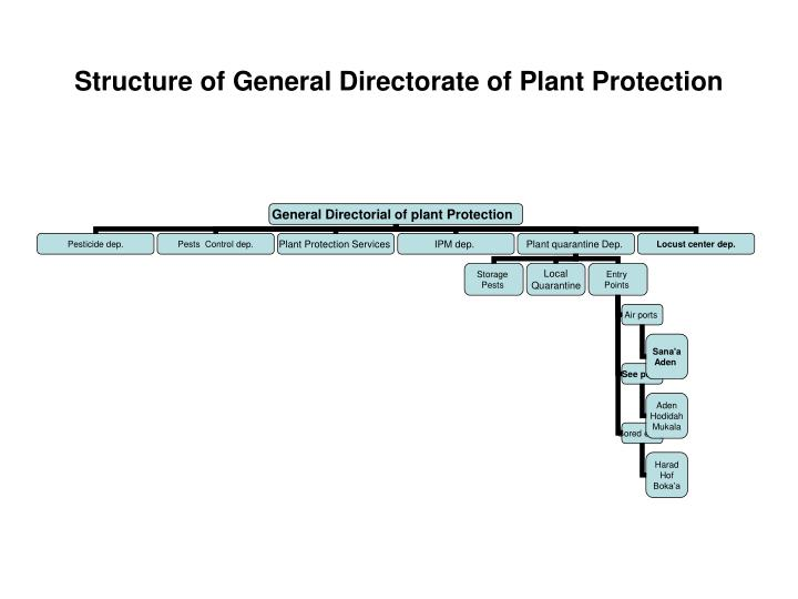 structure of general directorate of plant protection n.