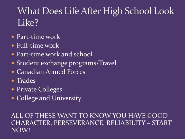 What Does Life After High School Look Like?