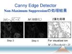 canny edge detector non maximum suppression