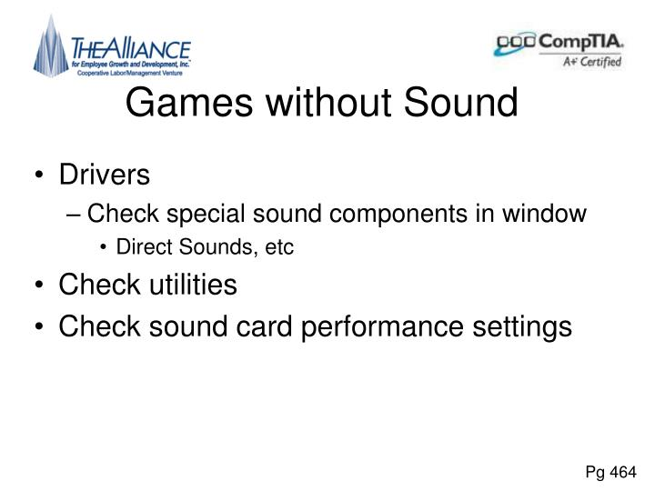 Games without Sound