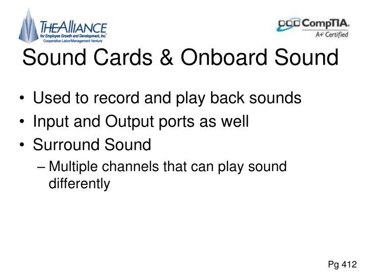Sound Cards & Onboard Sound