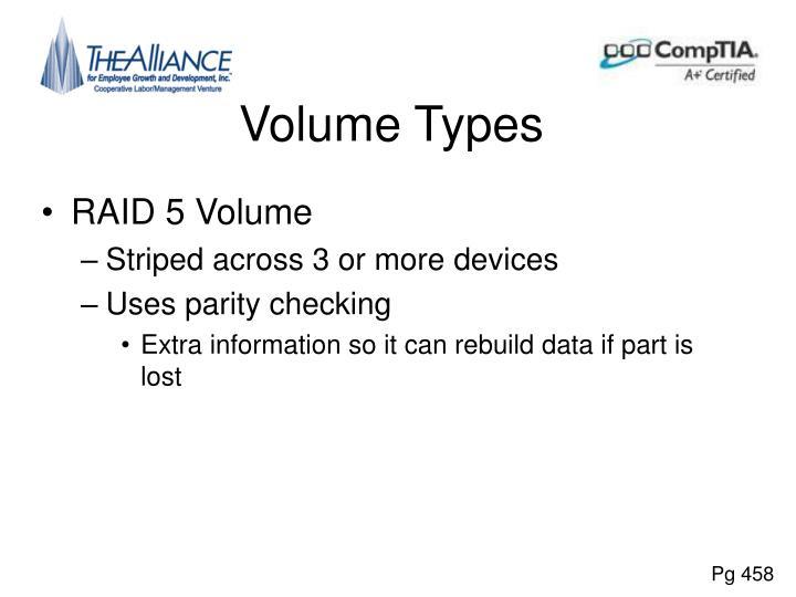 Volume Types