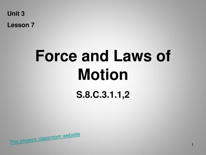 force and laws of motion n.
