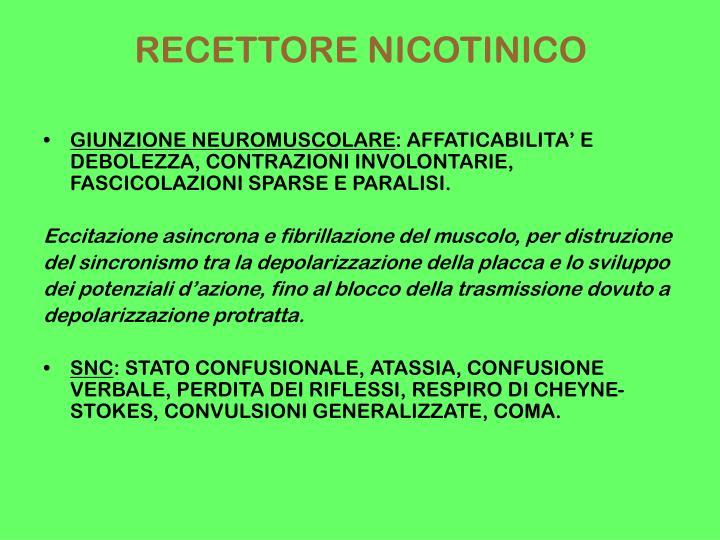 RECETTORE NICOTINICO