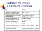 guidelines for double replacement reactions