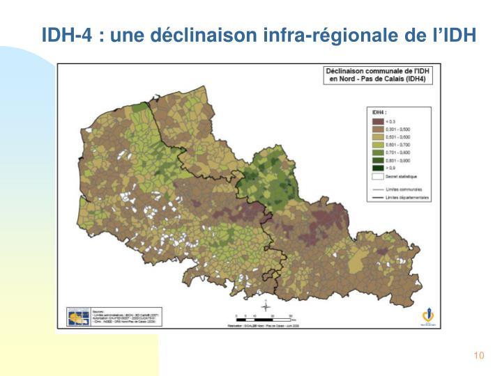 IDH-4 : une déclinaison infra-régionale de l'IDH