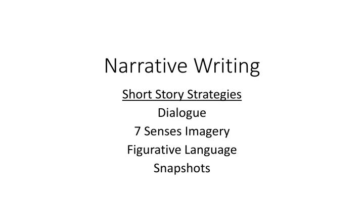narrative 5 dialogue Links to video (hover the mouse over the picture)should work when the presentation is started the worksheet goes with the east enders activity.