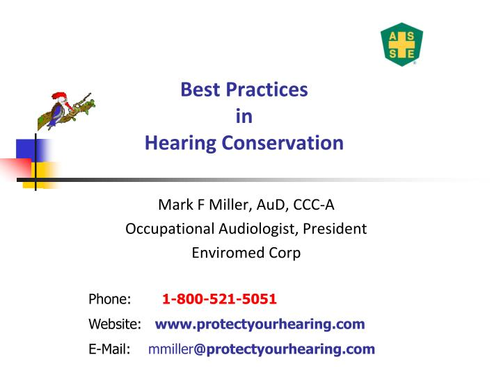 Ppt Best Practices In Hearing Conservation Powerpoint Presentation