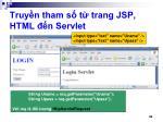 truy n tham s t trang jsp html n servlet
