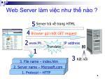 web server l m vi c nh th n o
