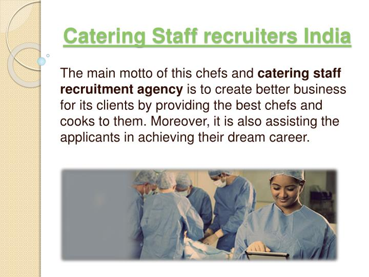 catering staff recruiters india n.