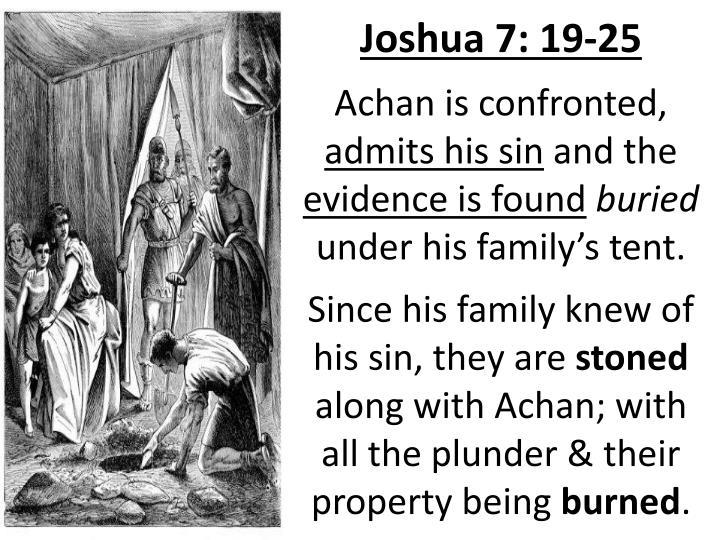Joshua 7: 19-25