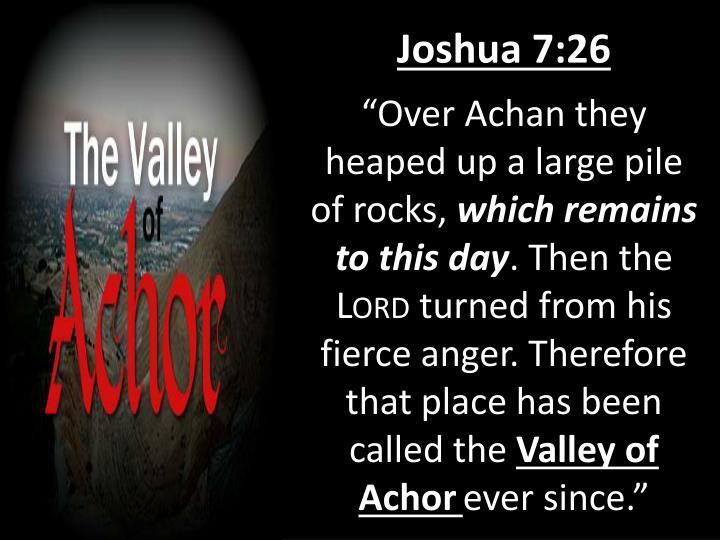 Joshua 7:26