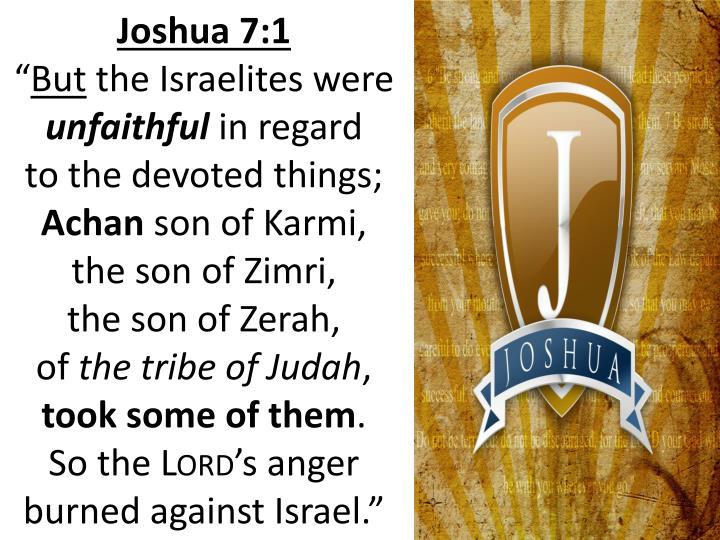 Joshua 7:1