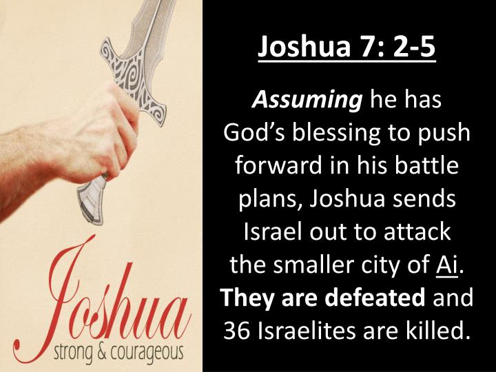 Joshua 7: 2-5