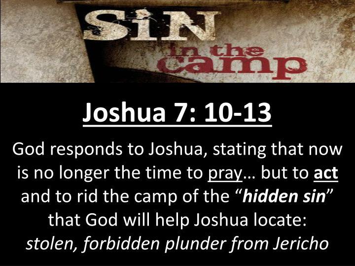 Joshua 7: 10-13