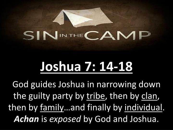 Joshua 7: 14-18