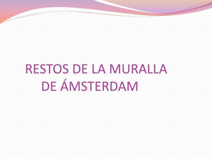 RESTOS DE LA MURALLA