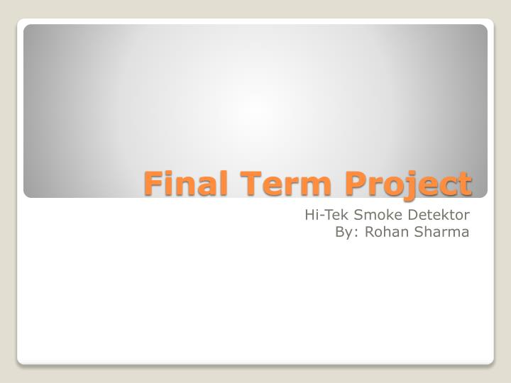 final term project n.