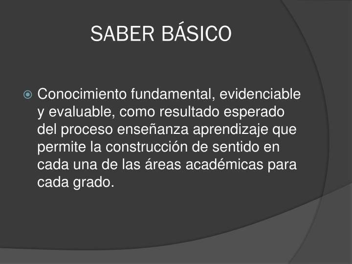 SABER BÁSICO