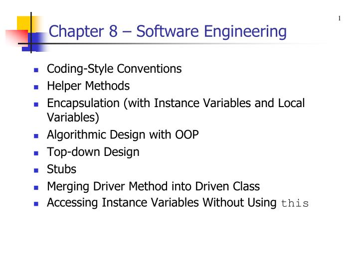 chapter 8 software engineering n.