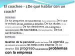 el coachee de qu hablar con un coach