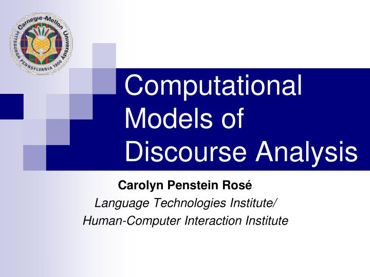 computational models of discourse analysis n.