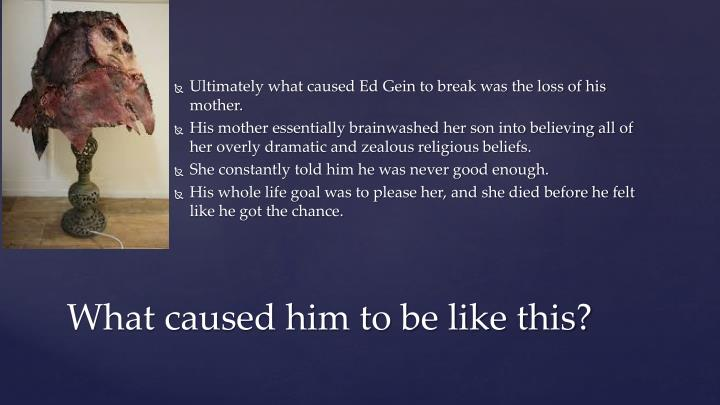 Ultimately what caused Ed
