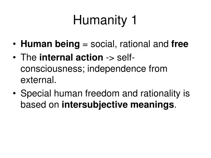Humanity 1