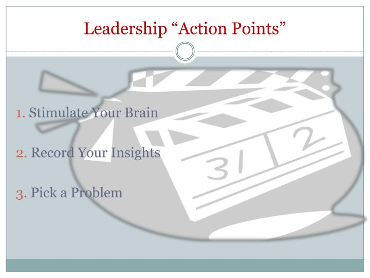 """Leadership """"Action Points"""""""