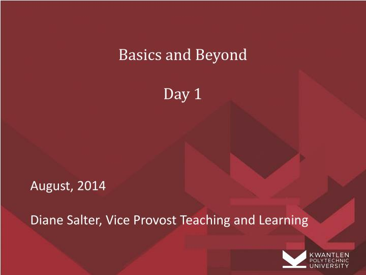 basics and beyond day 1 n.