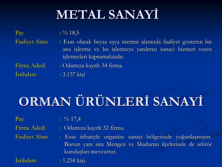 METAL SANAYİ