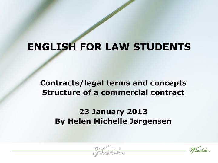 english for law students n.