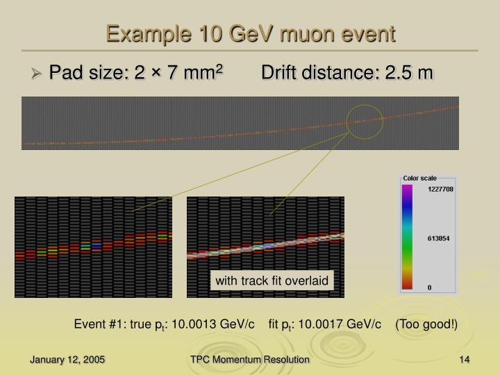 Example 10 GeV muon event