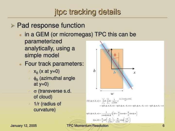 jtpc tracking details