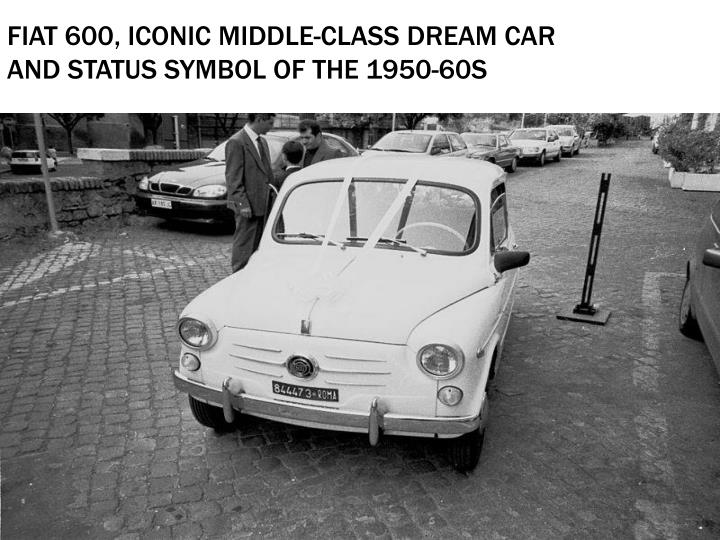 Fiat 600 iconic middle class dream car and status symbol of the 1950 60s