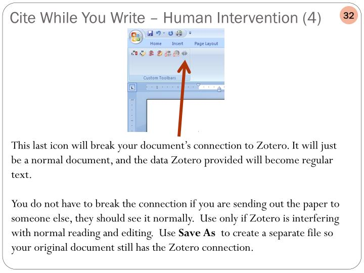 Cite While You Write – Human Intervention