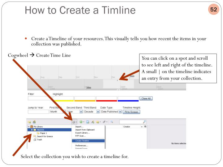Create a Timeline of your resources. This visually tells you how recent the items in your collection was published.