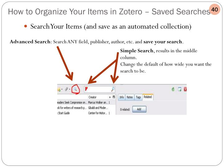 Search Your Items (and save as an automated collection)