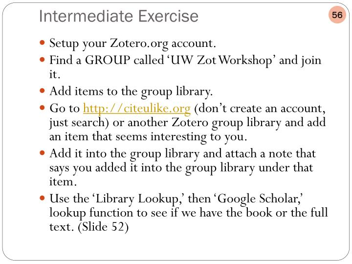 Setup your Zotero.org account.